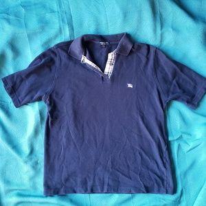 Navy Burberry Polo Shirt